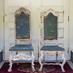 古い古いキング&クイーンの椅子の画像