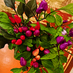 アンティークと花とうがらしの画像